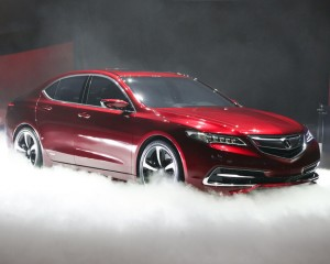 2015 Acura TLX Red Exterior View