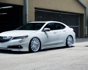 2015 Acura TLX White Test Drive