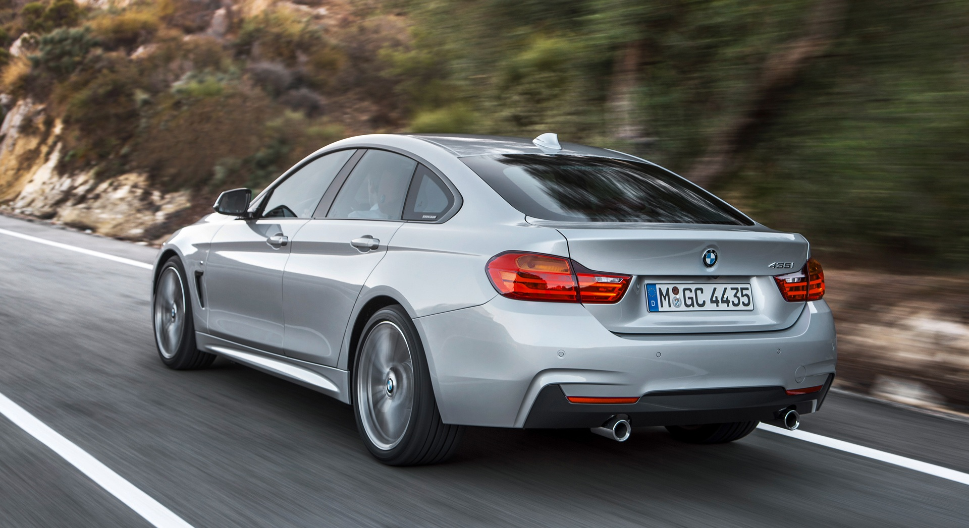 2015 BMW 4 Series Gran Coupe Road View