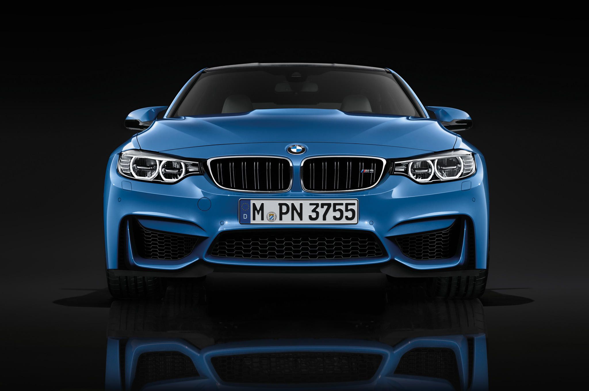 2015 BMW M3 Blue Front View