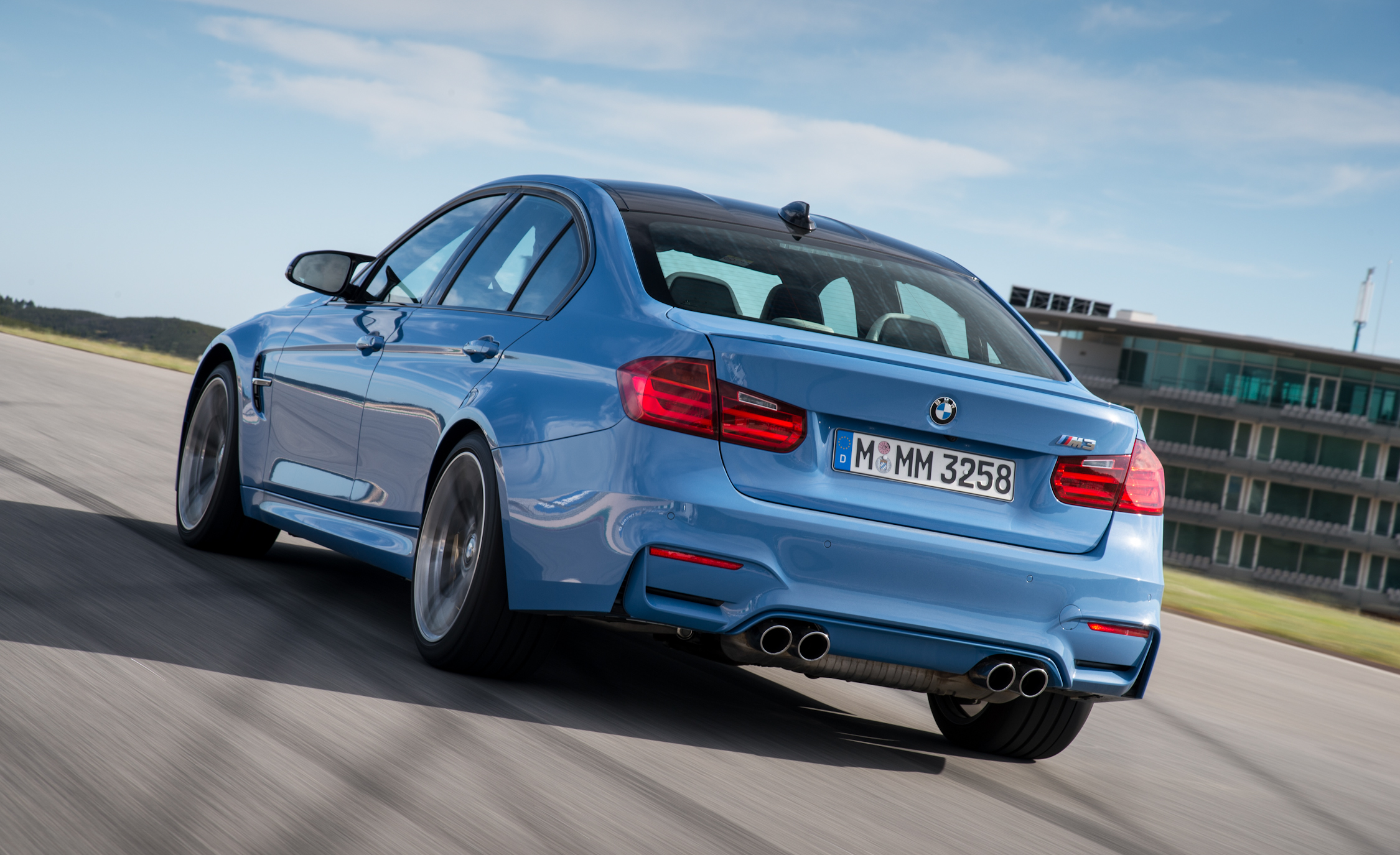 2015 BMW M3 Performance Rear and Side View