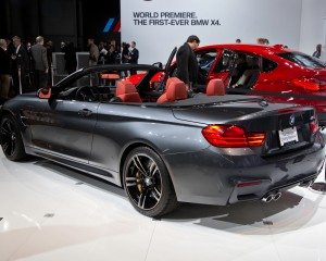 2015 BMW M4 Convertible Rear Side Auto Show