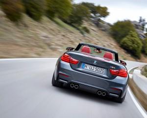 2015 BMW M4 Convertible Rear View Performance