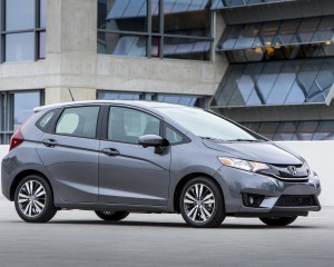2015 Honda Fit Grey Side View
