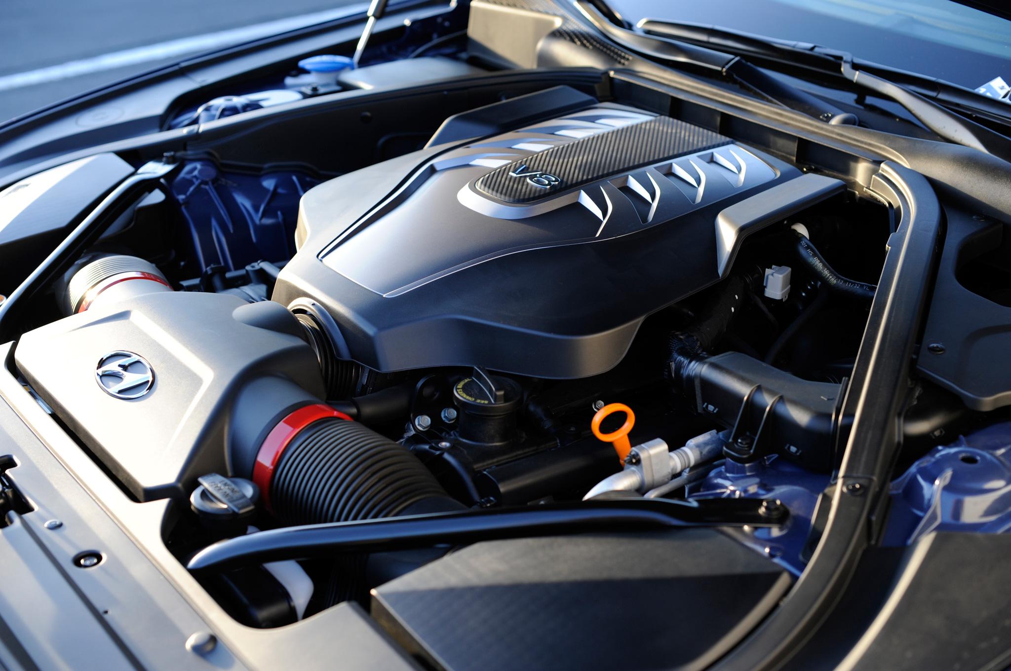 2015 Hyundai Genesis V8 Engine View