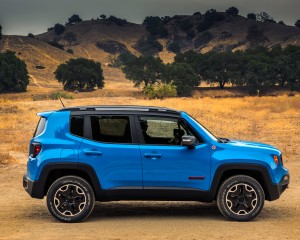 2015 Jeep Renegade Blue Side Exterior