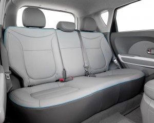 2015 Kia Soul EV Rear Interior Seats