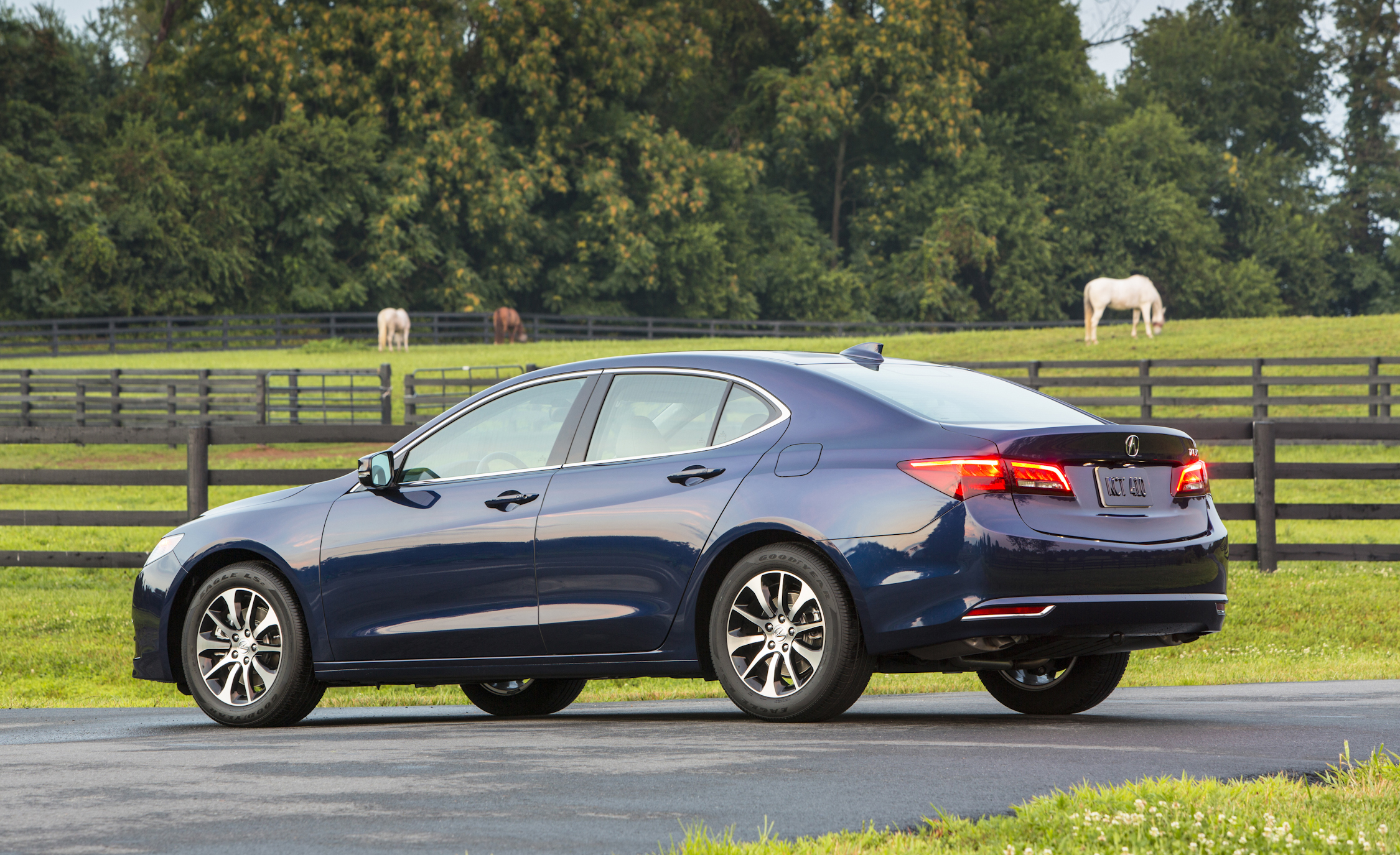 2015 Acura TLX 2.4L Exterior Left Side and Rear