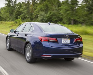 2015 Acura TLX 2.4L Test Rear and Side View