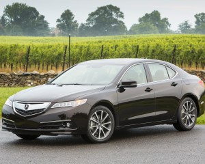 2015 Acura TLX 3.5L Exterior Front and Side View
