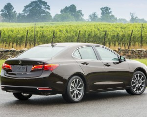 2015 Acura TLX 3.5L Exterior Rear and Side View