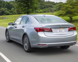 2015 Acura TLX 3.5L SH-AWD Test Rear and Side View