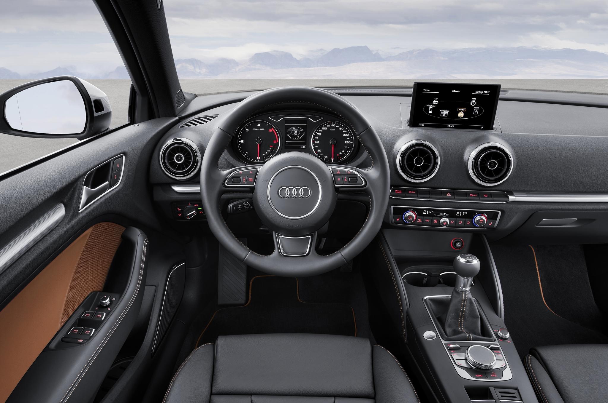 2015 Audi S3 Sedan Cockpit and Dashboard Interior