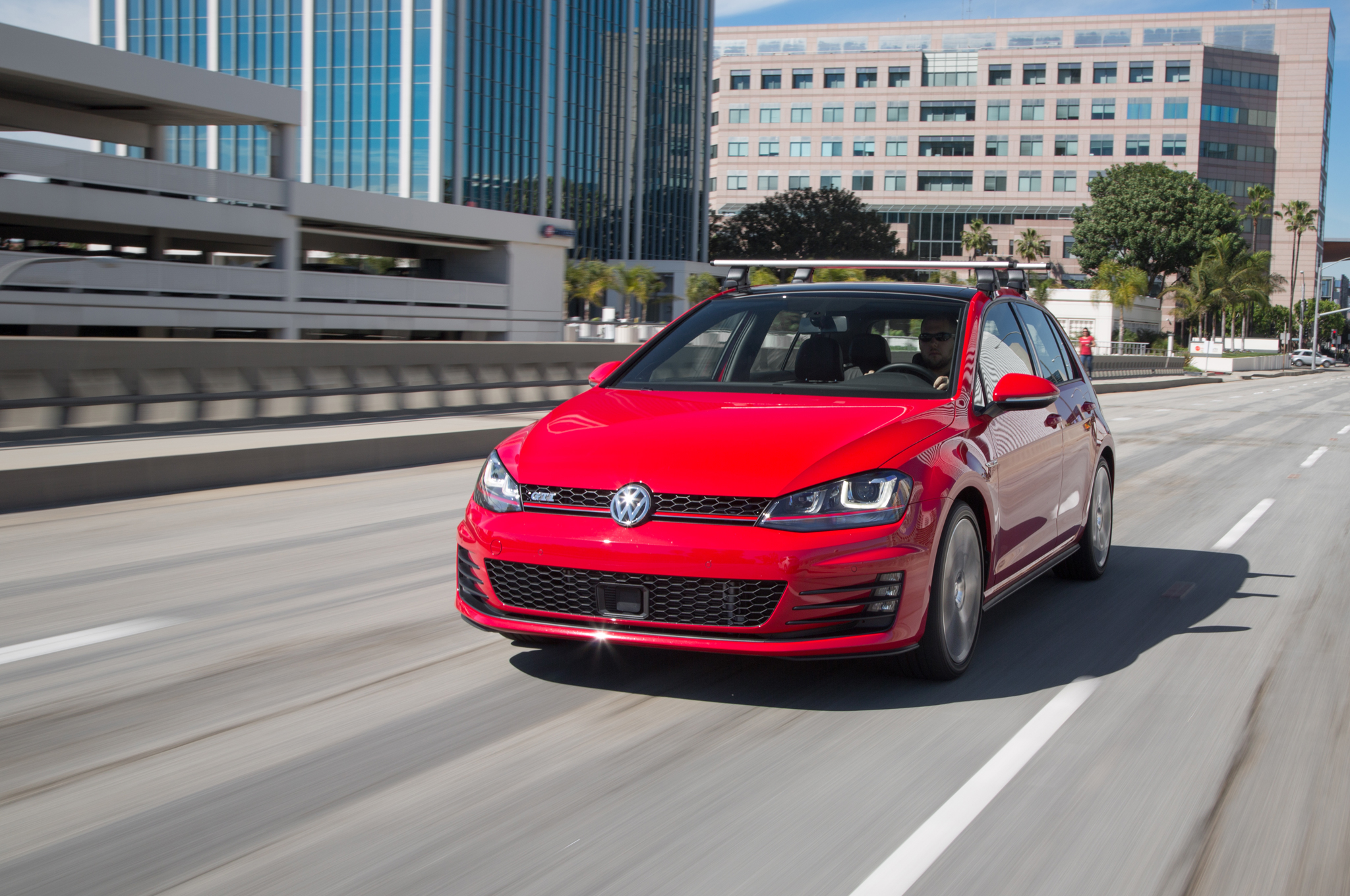 2015 Volkswagen Golf GTI Red With Roof Rack
