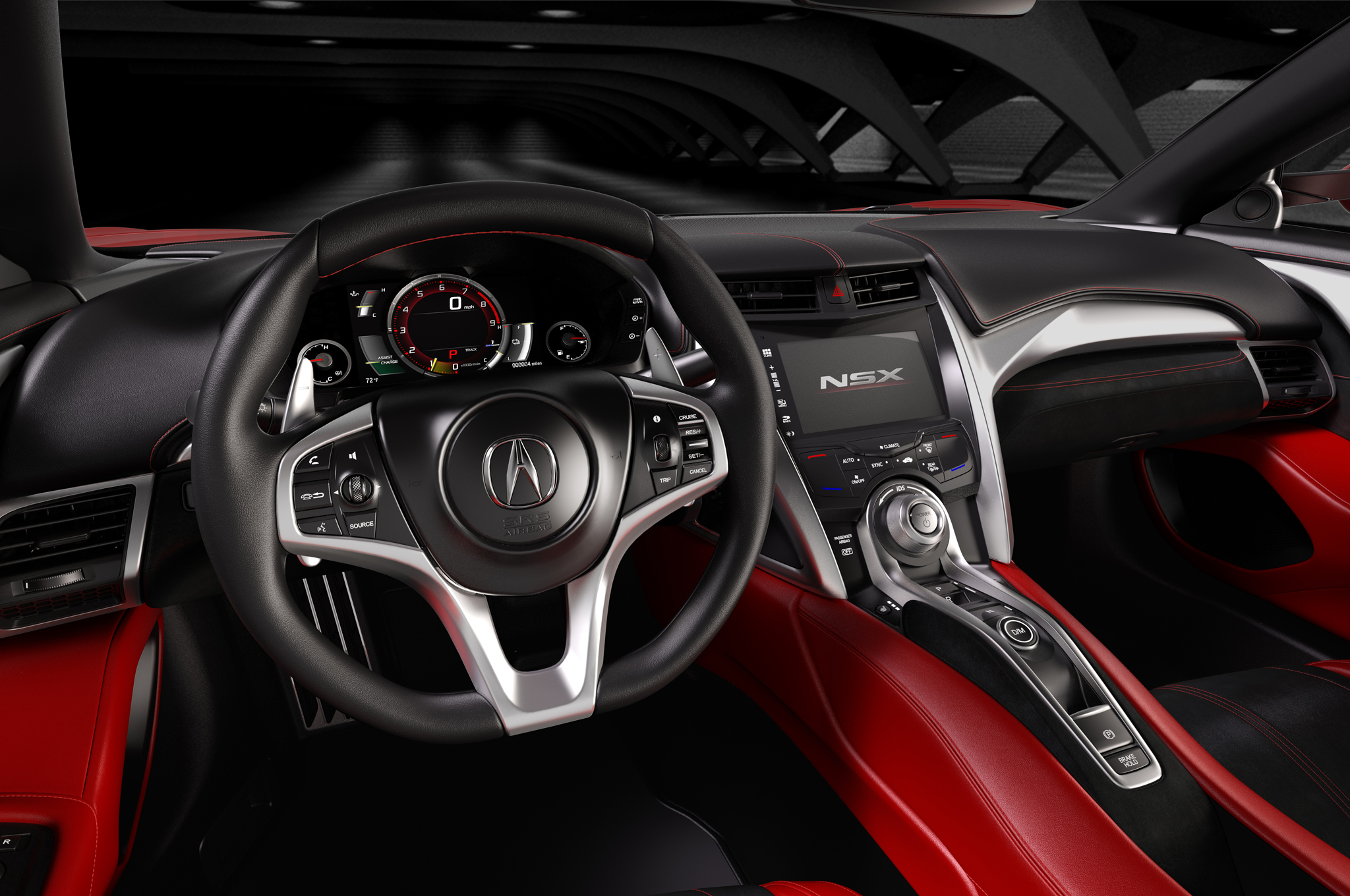 2016 acura nsx cockpit and speedometer 1008 cars. Black Bedroom Furniture Sets. Home Design Ideas