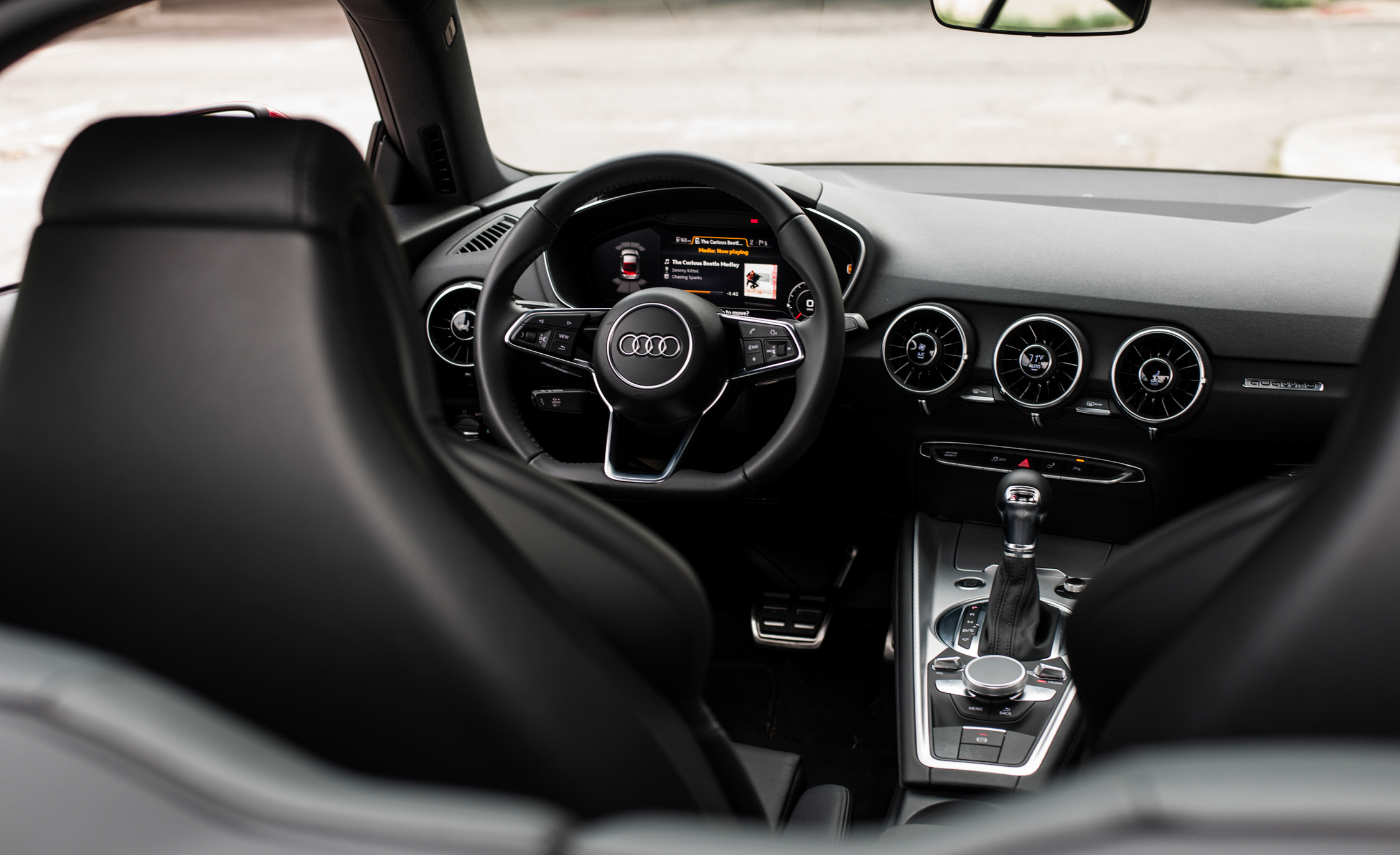 2016 Audi TT Coupe Interior Steering and Speedometer