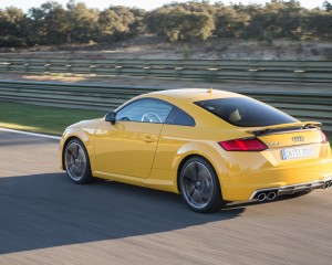 2016 Audi TTS Test Rear and Side View