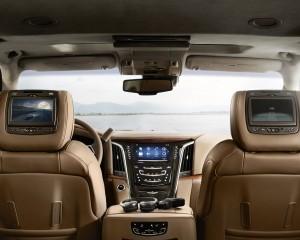 2015 Cadillac Escalade Platinum Edition Rear Interior