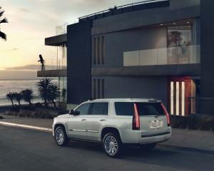 2015 Cadillac Escalade Platinum Edition White