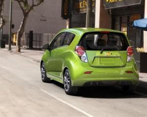 2015 Spark EV Green Rear View