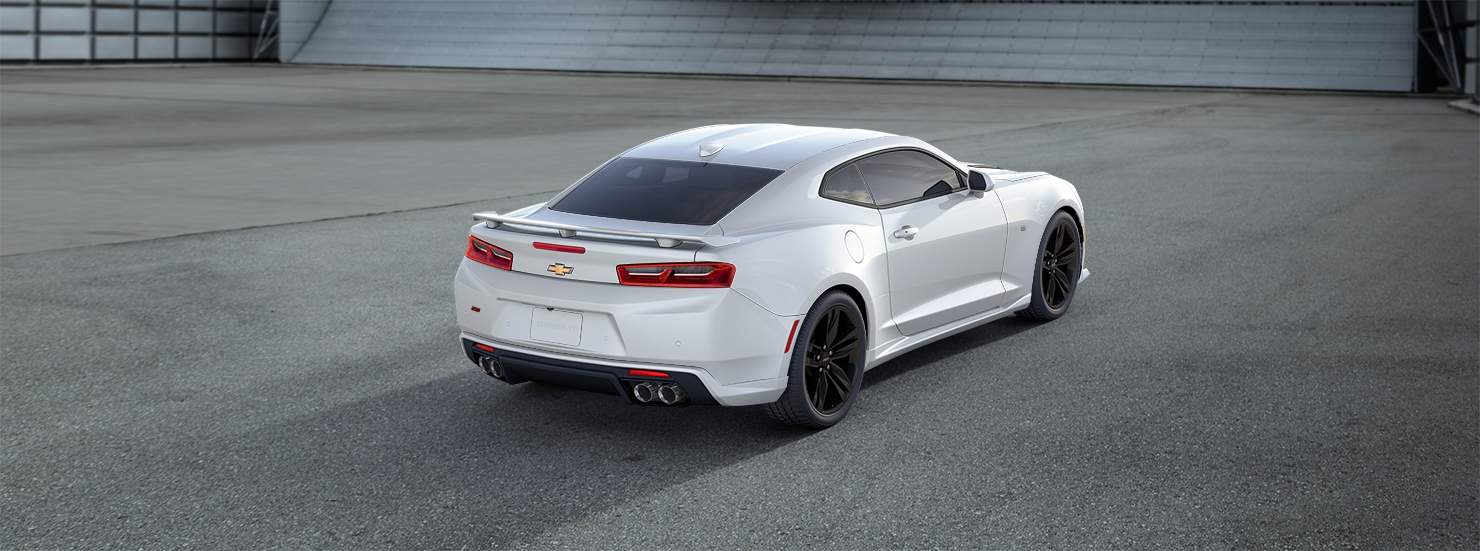 2016 Chevrolet Camaro White Rear View