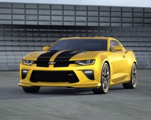 2016 Chevrolet Camaro Yellow Rally Stripes