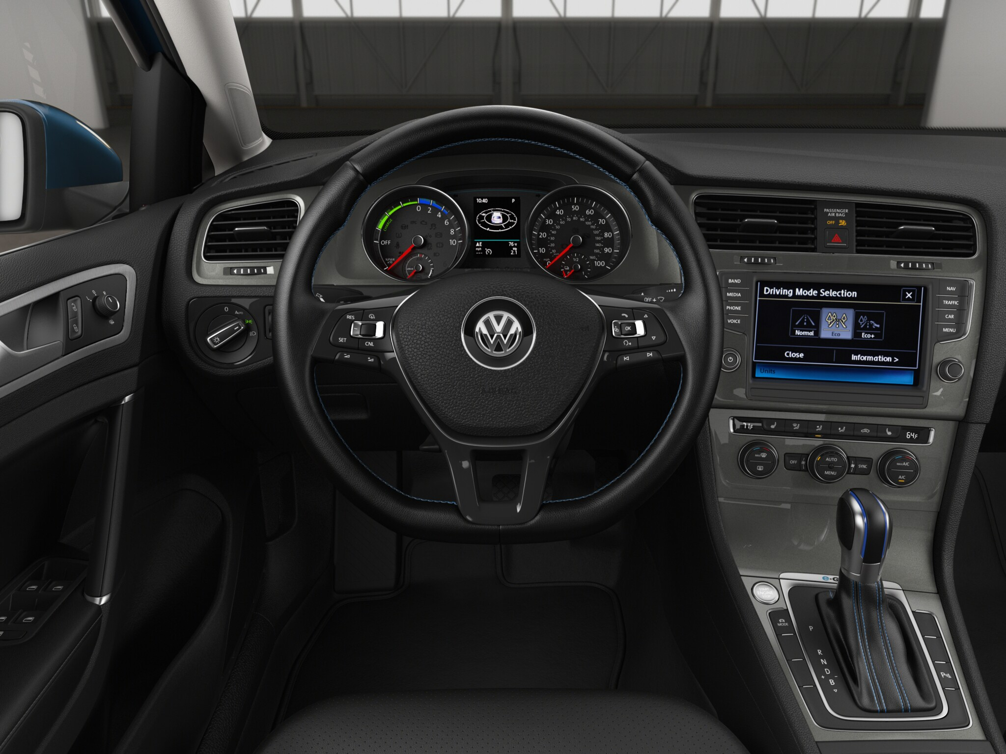 2016 Volkswagen e-Golf Cockpit and Speedometer