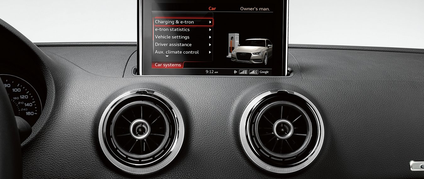 Audi A3 e-Tron Head Unit and Dashboard