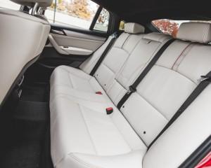 2015 BMW X4 xDrive28i Interior Rear Passengers Seats