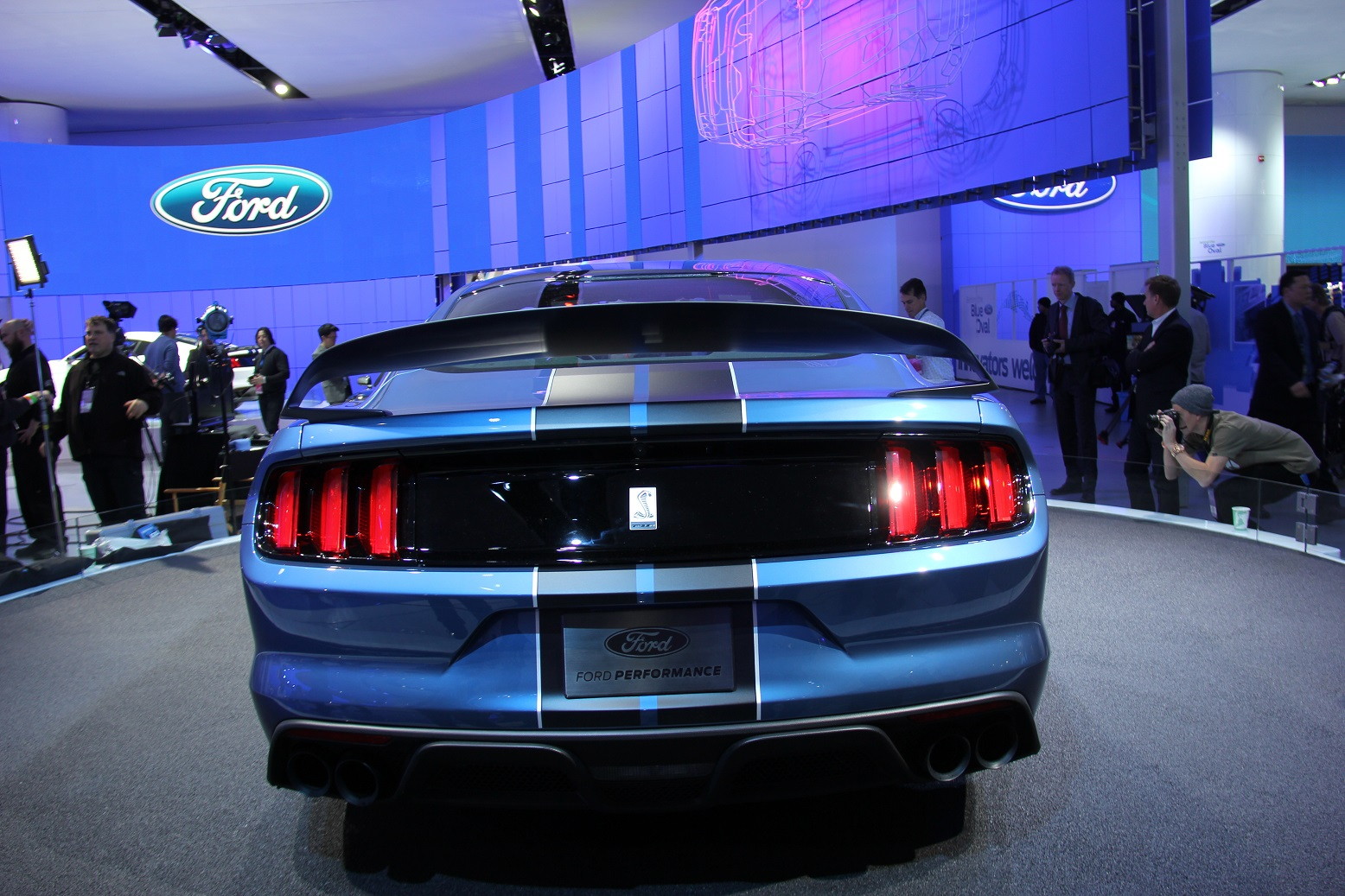 2016 Ford Mustang Shelby GT350R Rear End Design
