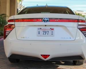 2016 Toyota Mirai White Exterior Rear
