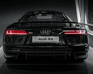 Audi R8 V10 Plus Mythos Black Metalic Rear Design