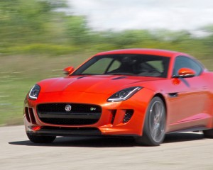 Jaguar F-type R Coupe 2015 Test Front and Side View