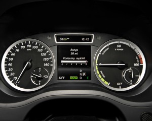 2014 Mercedes-Benz B-class Electric Drive Interior Speedometer