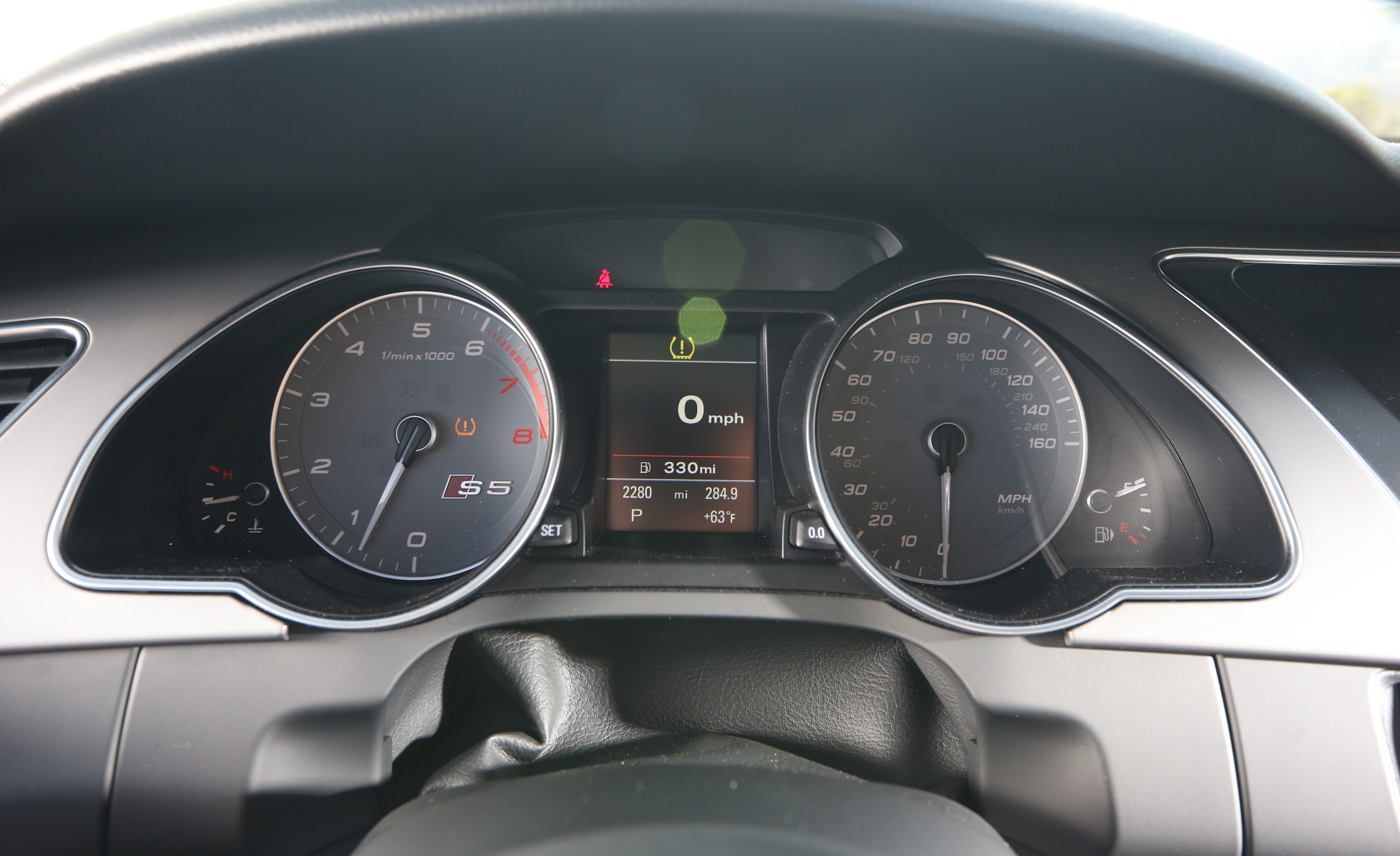 2015 Audi S5 Speedometer
