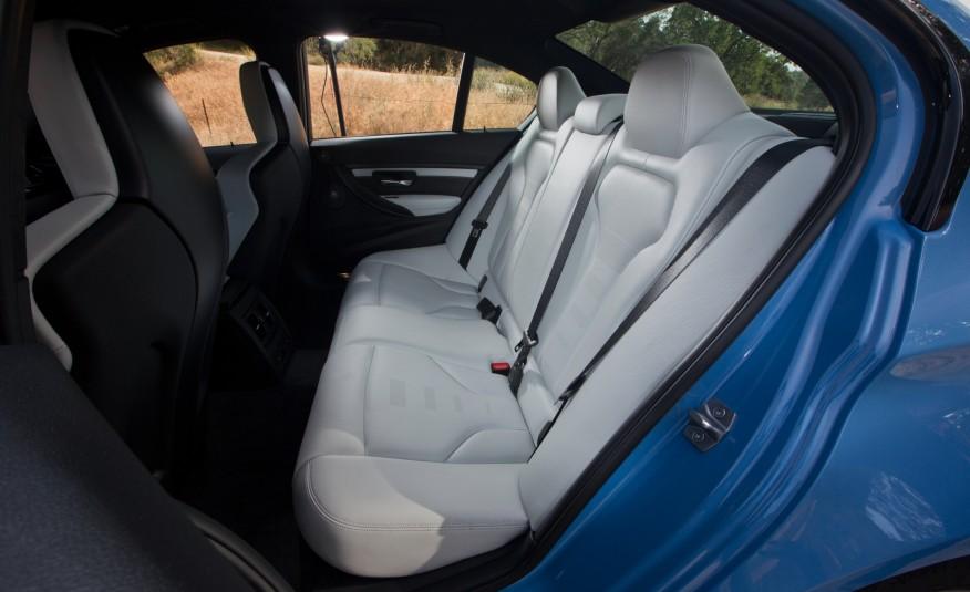 2015 BMW M3 Rear Seats Interior