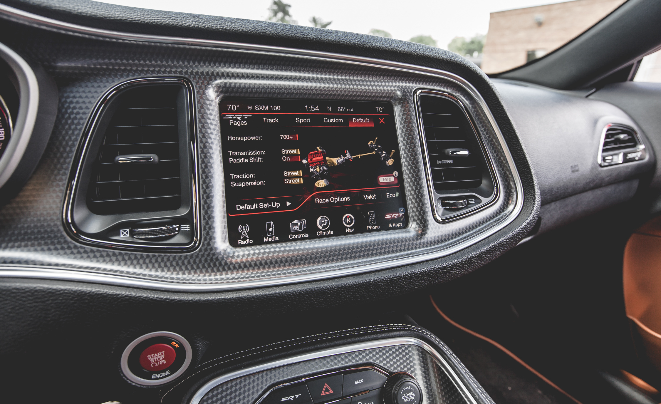 2015 Dodge Challenger Srt Hellcat Interior Center Head Unit 8857 Cars Performance Reviews