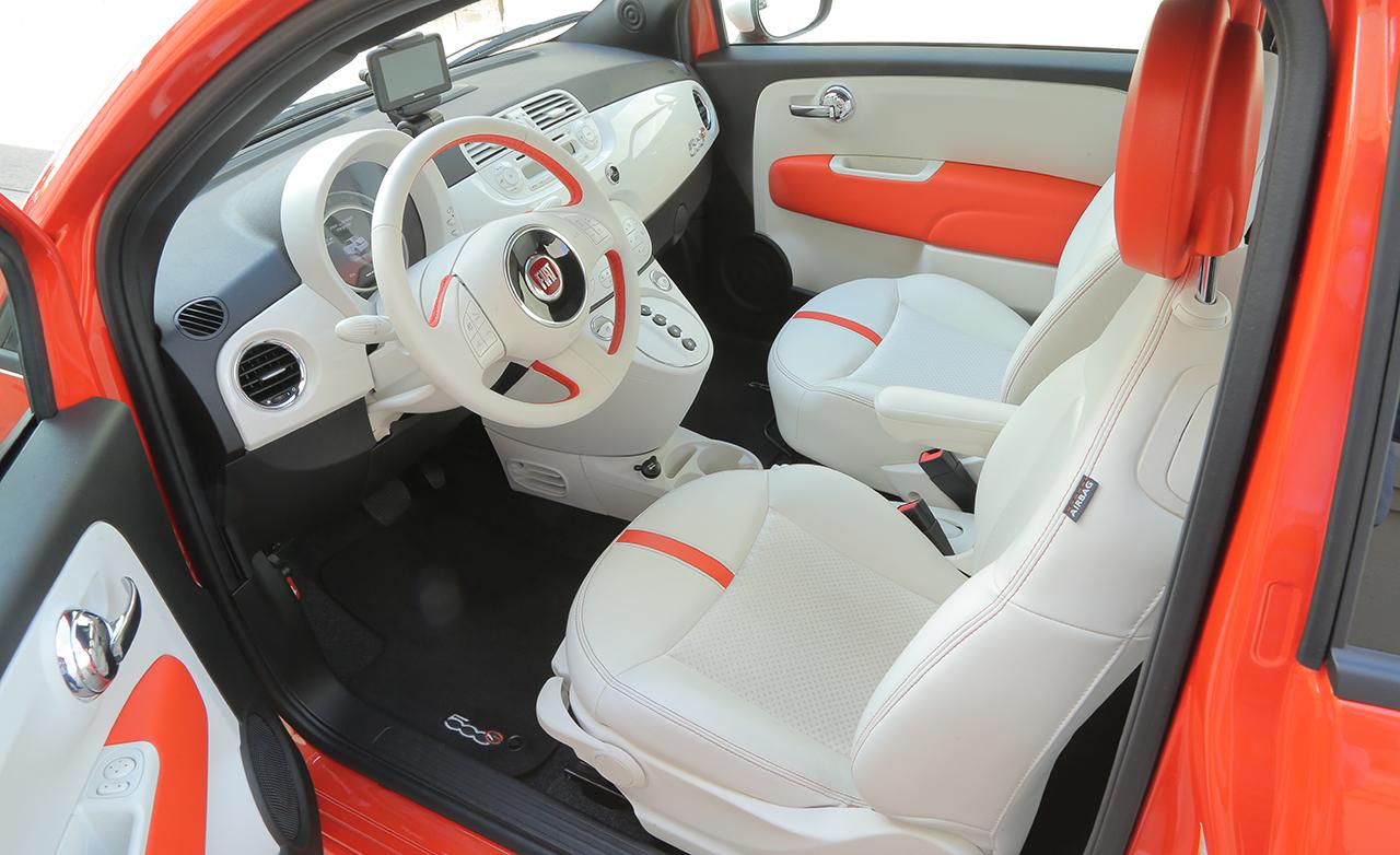 2015 FIAT 500e Interior Front Seats