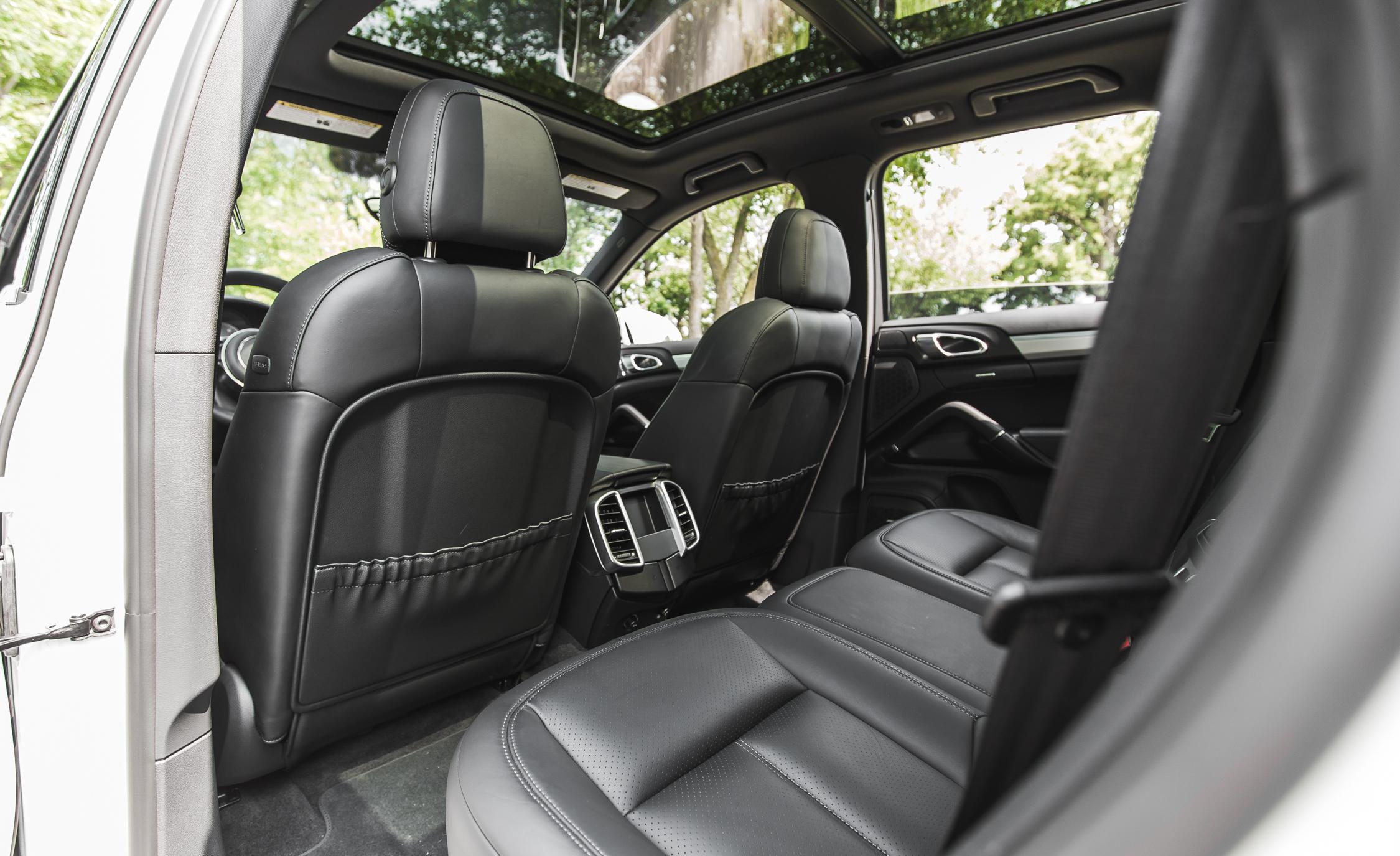 2015 porsche cayenne s e hybrid interior rear seats