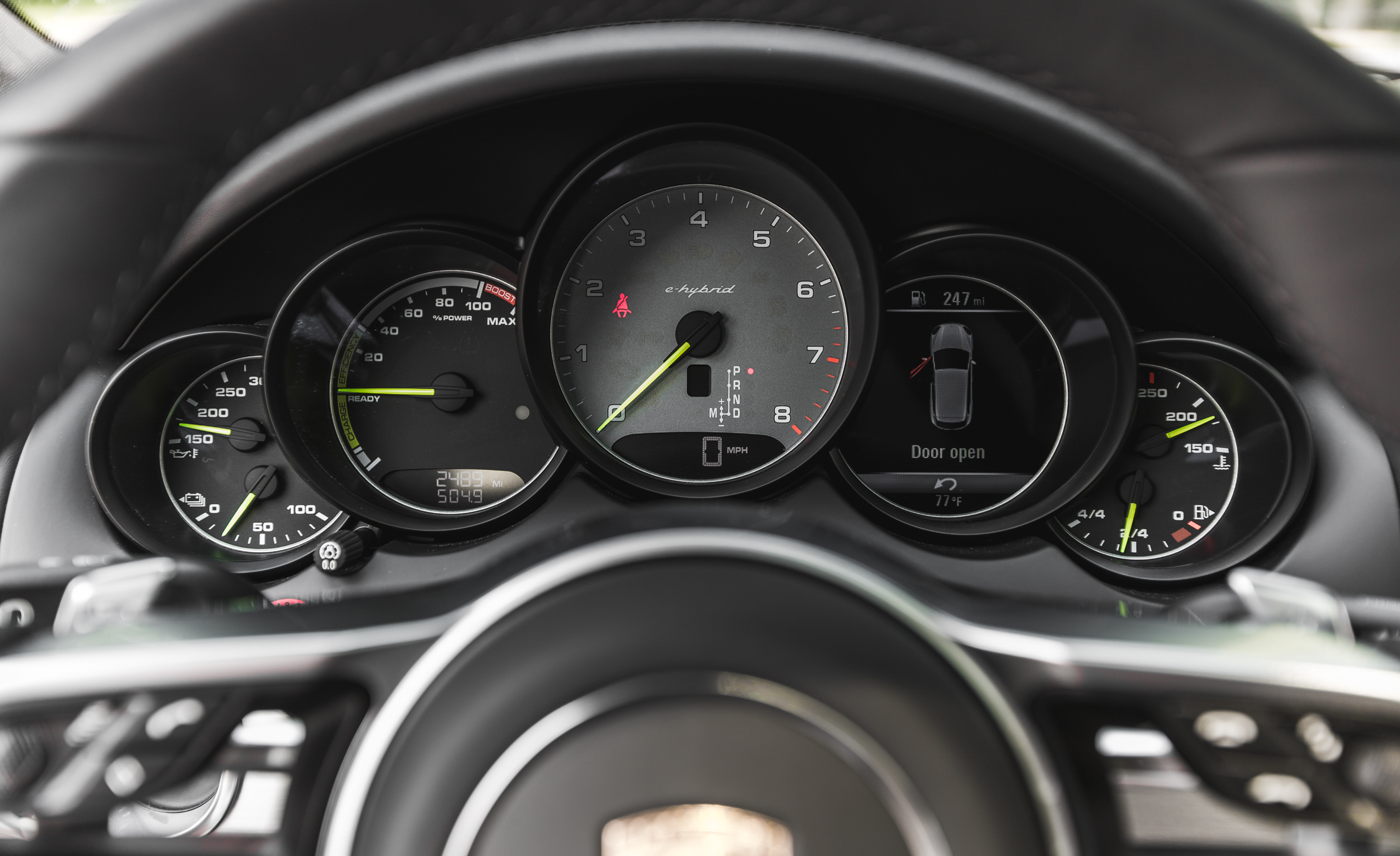 2015 porsche cayenne s e hybrid interior speedometer - Porsche 2015 Interior