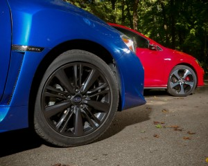 2015 Subaru WRX vs Volkswagen GTI Wheel Trim Comparison