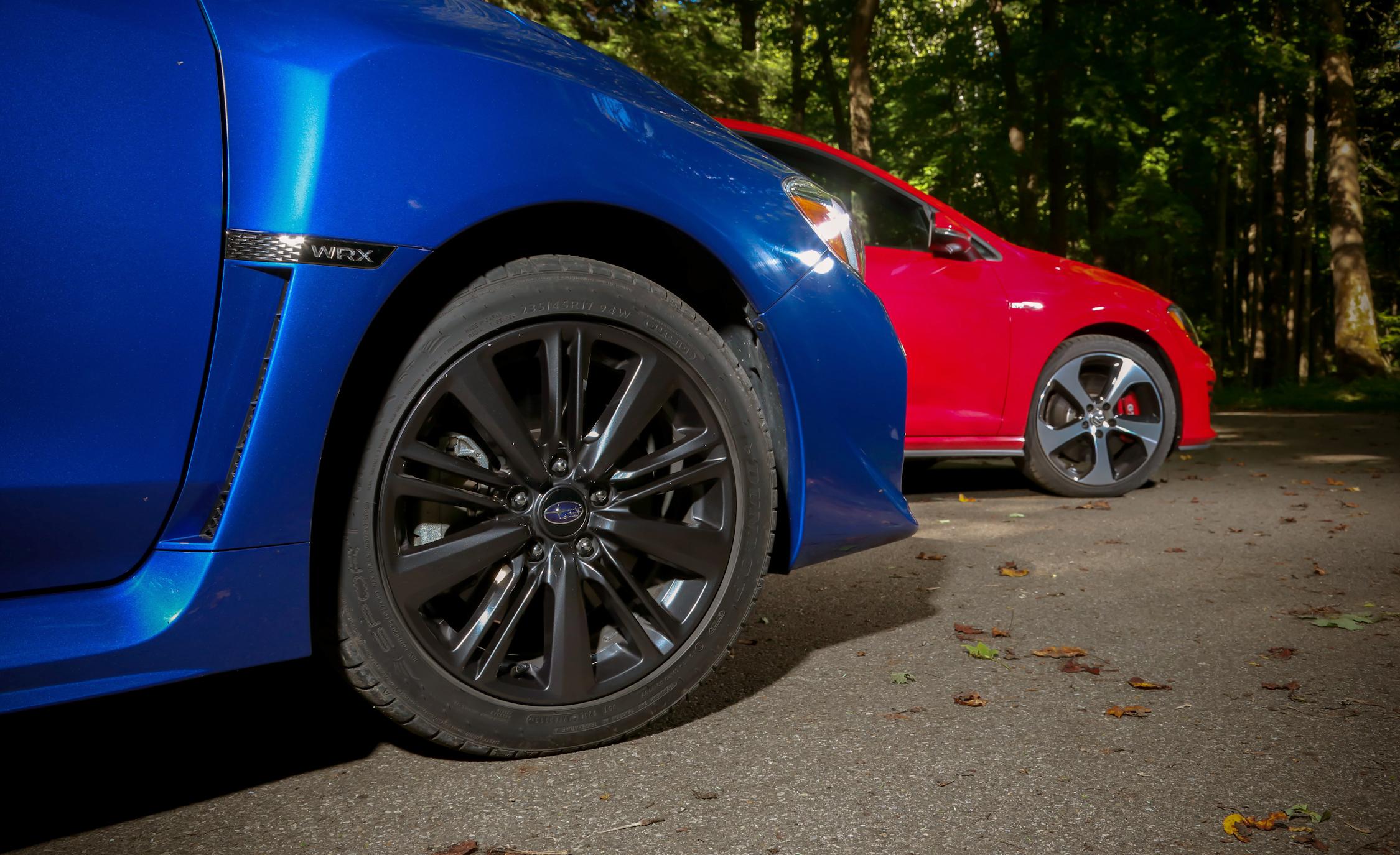 2015 Subaru WRX vs Volkswagen GTI Wheel Trim Comparison