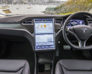 2015 Tesla Model S P85D Dashboard and Head Unit Interior