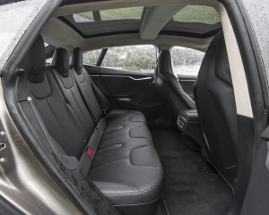 2015 Tesla Model S P85D Rear Passenger Seats Interior