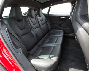 2015 Tesla Model S P85D Rear Seats Interior