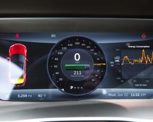 2015 Tesla Model S P85D Speedometer