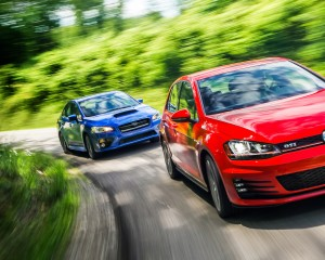2015 Volkswagen GTI vs Subaru WRX Performance
