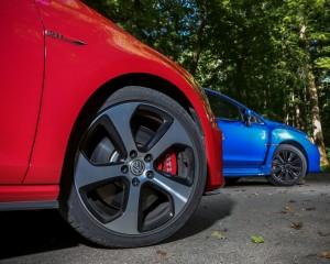 2015 Volkswagen GTI vs Subaru WRX Wheel Trim Comparison