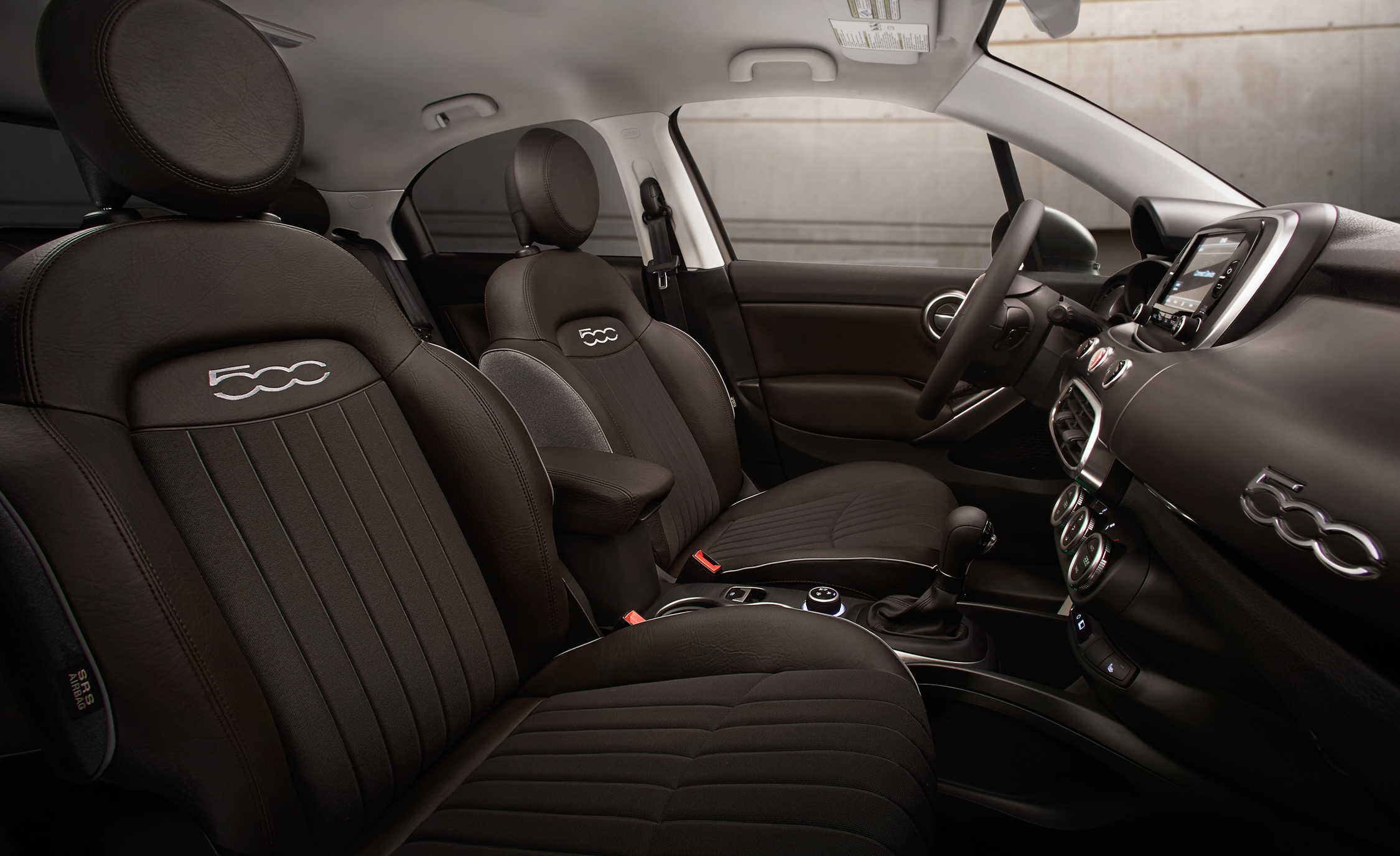 2016 Fiat 500X Lounge Interior Front Seats