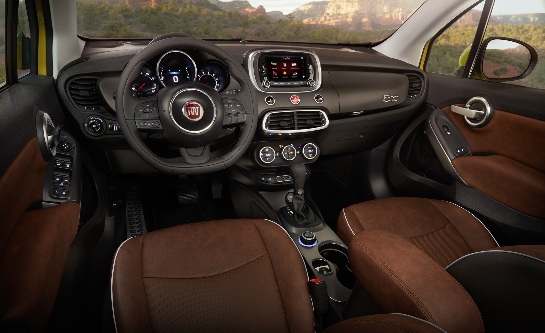 2016 Fiat 500X Trekking Plus Interior